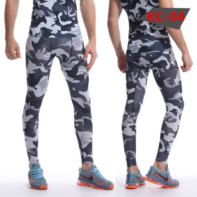 New Camouflage Compression Pants for Men