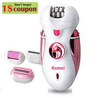 Kemei 4 in 1 rechargeable epilator women shaver female electric hair shaving machine body depilador lady trimmer removal tweezer