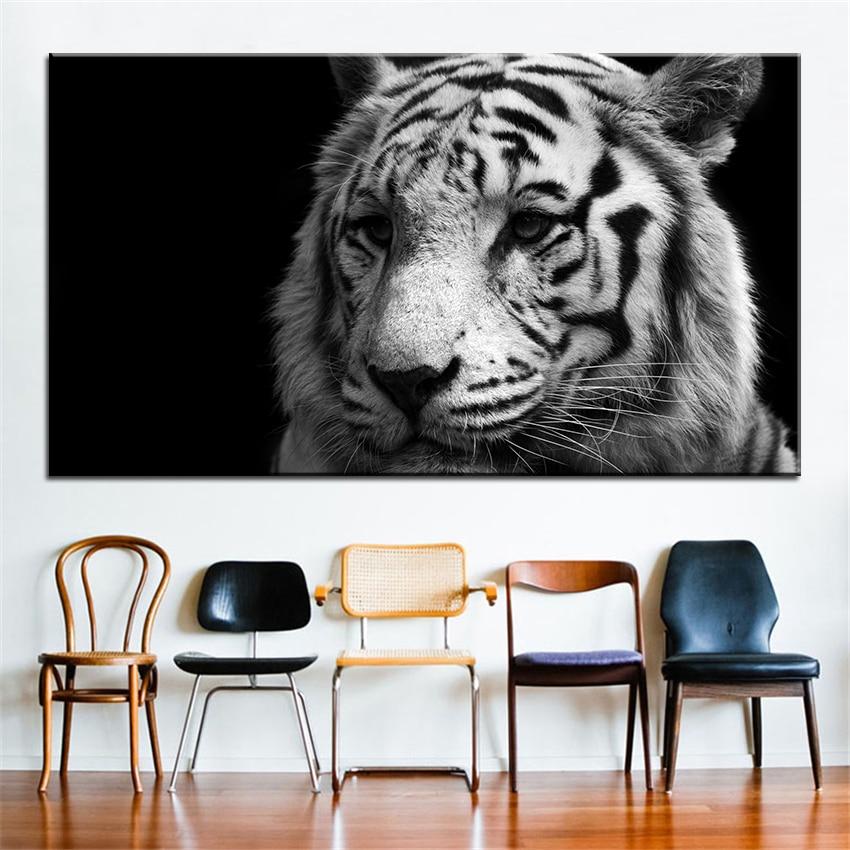ᗑImpresión de gran tamaño pintura al óleo blanco y negro 77 pared ...