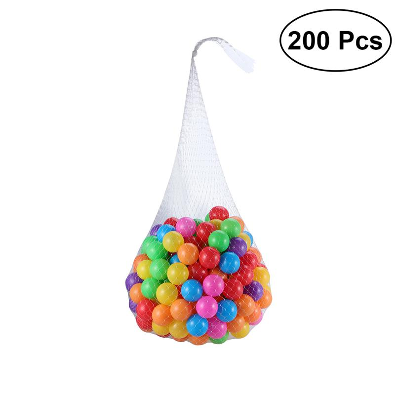 200pcs/lot Eco-friendly Colorful Soft Plastic Water Pool Ocean Wave Ball Baby Funny Toys Stress Air Ball Outdoor Fun Sports