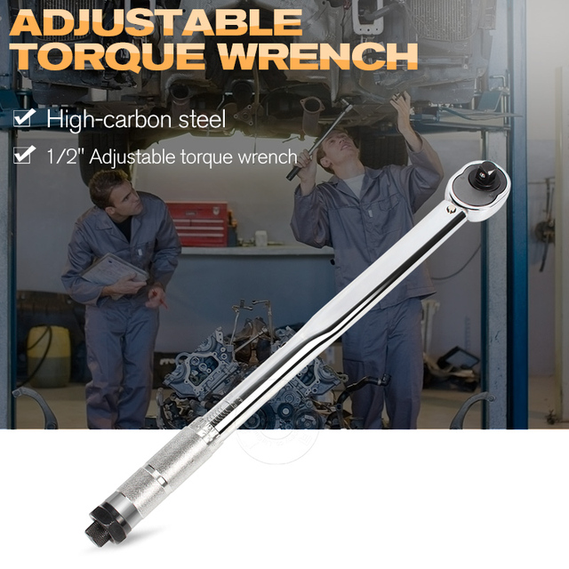 """1pc 1/2""""(28-210NM) Adjustable Torque Wrench Ratchet Spanner Socket Wrench Key Car Repair Hand Tool Set"""