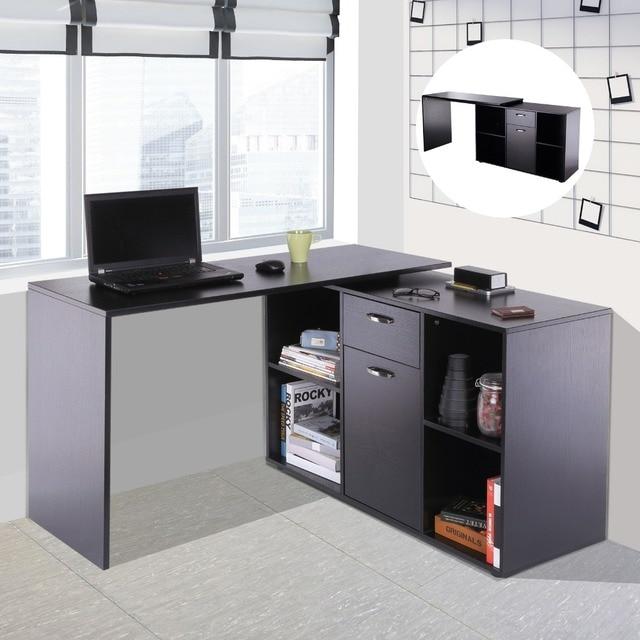 Homcom Escritorio Mesa de Ordenador Mesa Esquinera Oficina 2 Formas ...