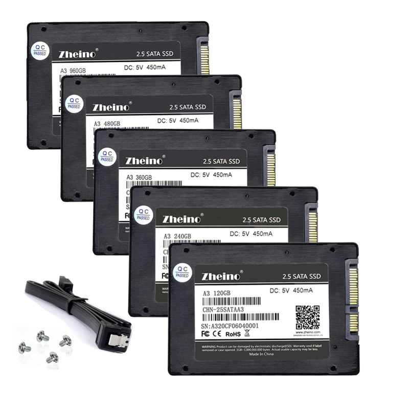 Zheino 2.5 SSD SATAIII 60 gb 120 gb 240 gb 360 gb 480 gb 960 gb 128 gb 256 gb 512 gb 1 tb 6 Gbps Interne Solid State Drives Disque