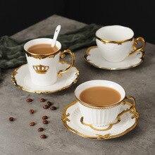 В скандинавском стиле элегантные кофейные чашки и блюдца ручной работы Ins Золотой Набор чашек для молока домашний послеобеденный чай Набор чашек для молока рождественские подарки