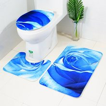 3pcs/set Bathroom Set Toilet Seat Cover Water Absorption Mat Toilet Seat Cover Non-Slip Bath Pad Bathroom Rug Home Decorations(China)