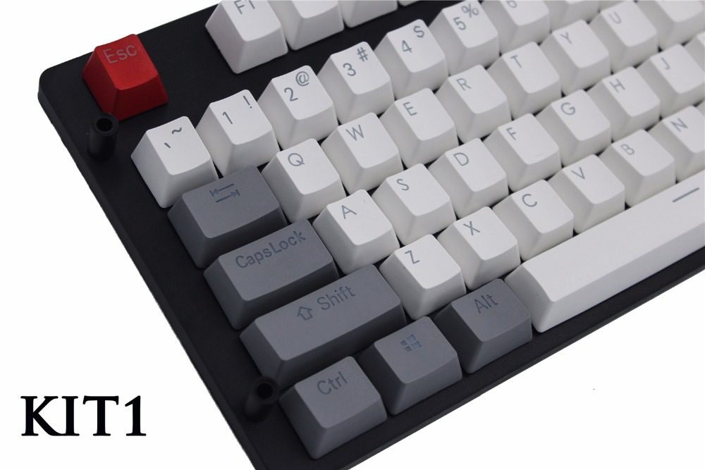 MP PBT Translucidus Backlit Double shot Wit en grijs Retro Keycap - Computerrandapparatuur - Foto 2