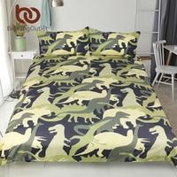 BeddingOutlet Dinosaur Troops Bedding Set Queen Size Duvet Cover Set Animal Camouflage Print Bedspreads For Kids