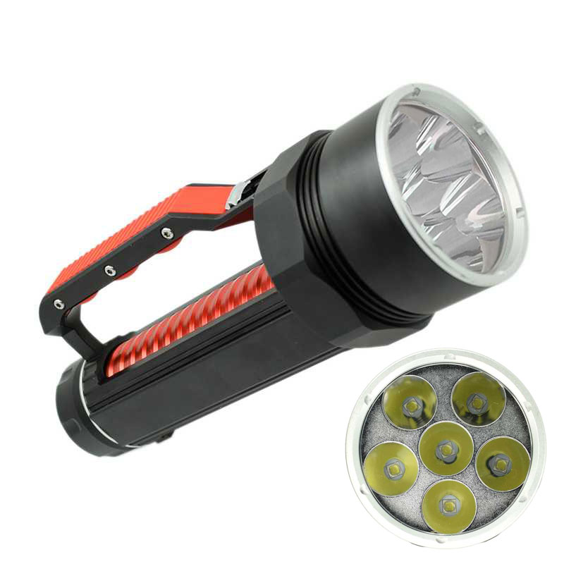 High Power LED Flashlight XM-L2 Lanterna X900 Underwater Lamp Waterproof Light Sky Camp 10000 Lumen Flashlights Torch for 26650 powerful 6 xm l2 waterproof dive light underwater 6000 lumen tactical led diving flashlight 26650 torch lamp lanterna