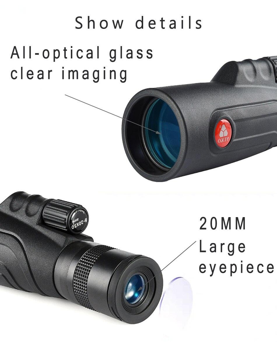 potência todo o vidro óptico foco monocular