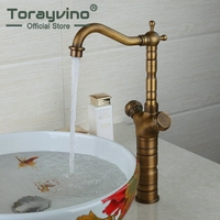 RU Reasonable In Price Waterfall Basin Faucet Tempered Glass Single Handle Ceramic Plate Spool Hot Cold
