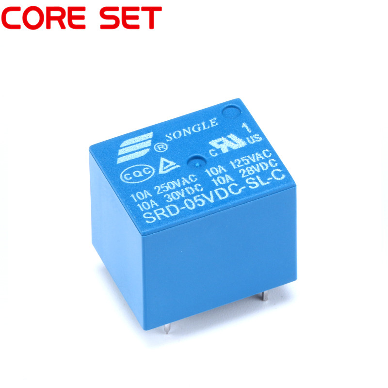 Promotion! 5pcs 5 Pins SRD-05VDC-SL-C 5VDC 10A 250VAC Power relay PCB Type T73-5V SRD-5VDC-SL-C 10A 125VAC 10pcs lot srd 5vdc sl c srd 5vdc srd 05v songle power relay dip 4 100