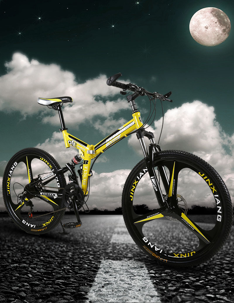 KUBEEN mountain bike 26-inch steel 21-speed bicycles dual disc brakes variable speed road bikes racing bicycle BMX Bike
