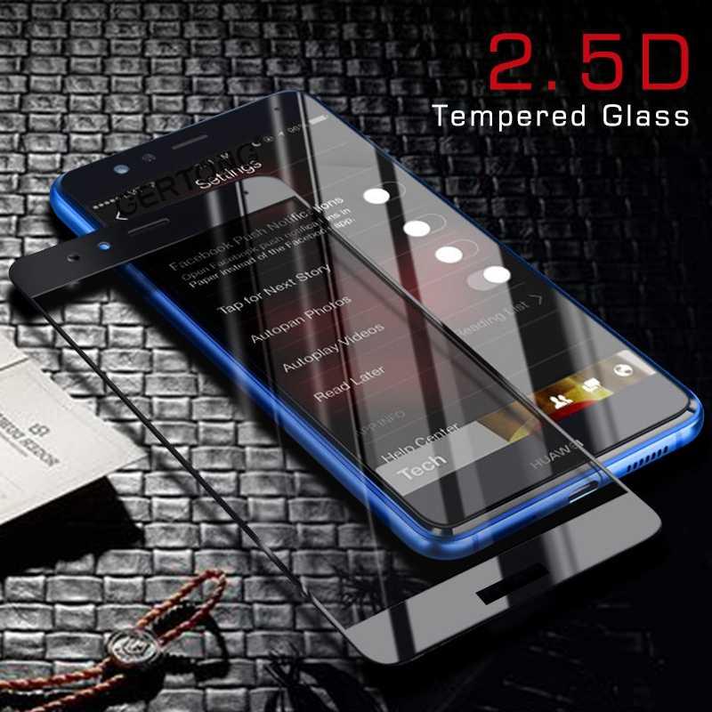 CASPTM Completa Tampa de Vidro Temperado Para Huawei P20 Pro P10 Plus P8 P9 Lite Nova 3 Protetor de Tela Temperado Filme para Honra 10 7X