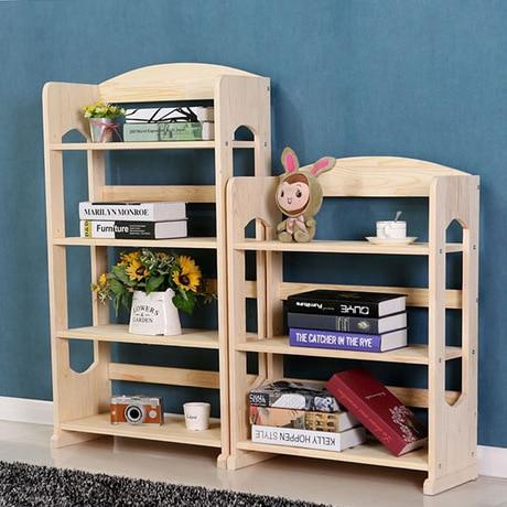 Kid Living Room Furniture Ideas Arranging Bookcases Home Pine Solid Wood Kids Bookshelf Simple Storage Racks Cabinet Display Book Stand