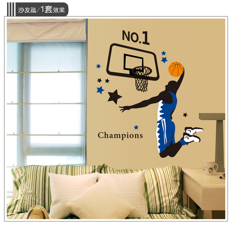 Wall Sticker Sports Champion Wall Sticker Living Room Decoration Environmently Wall Sticker Removable Animal Wall Sticker