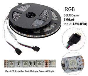 Image 3 - 5050 LED רצועת DC 12V לא עמיד למים/עמיד למים 60LED/m RGB/לבן/חם לבן גמיש LED אור רצועות 5 מטר\חבילה