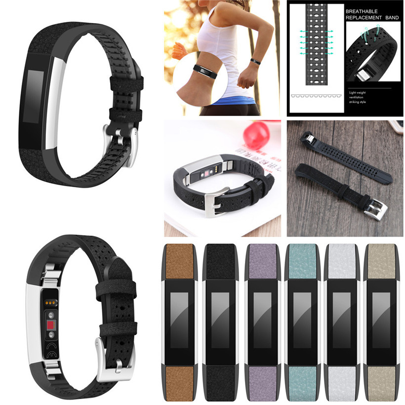 Replacement Leather Band Strap Bracelet For Fitbit Alta HR/Fitbit Alta drop shipping 1120 free shipping