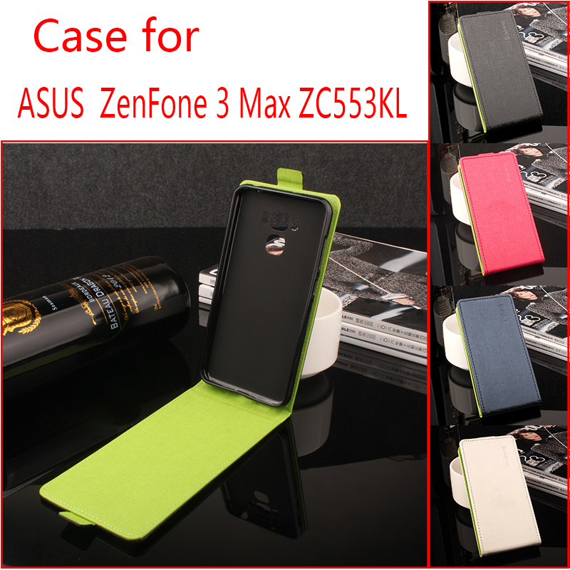 For Asus Zonfone 3 Max ZC553KL Case Cover Hit Color PU Leather Phone Bag For Asus Zonfone 3 Max ZC553KL Flip Vertical Cases