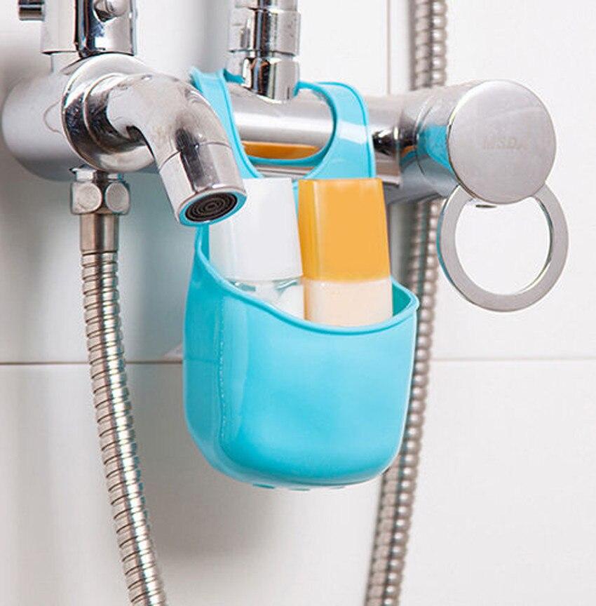 Kitchen Sink Sponge Holder Bathroom Hanging Strainer Organizer Storage Rack CO