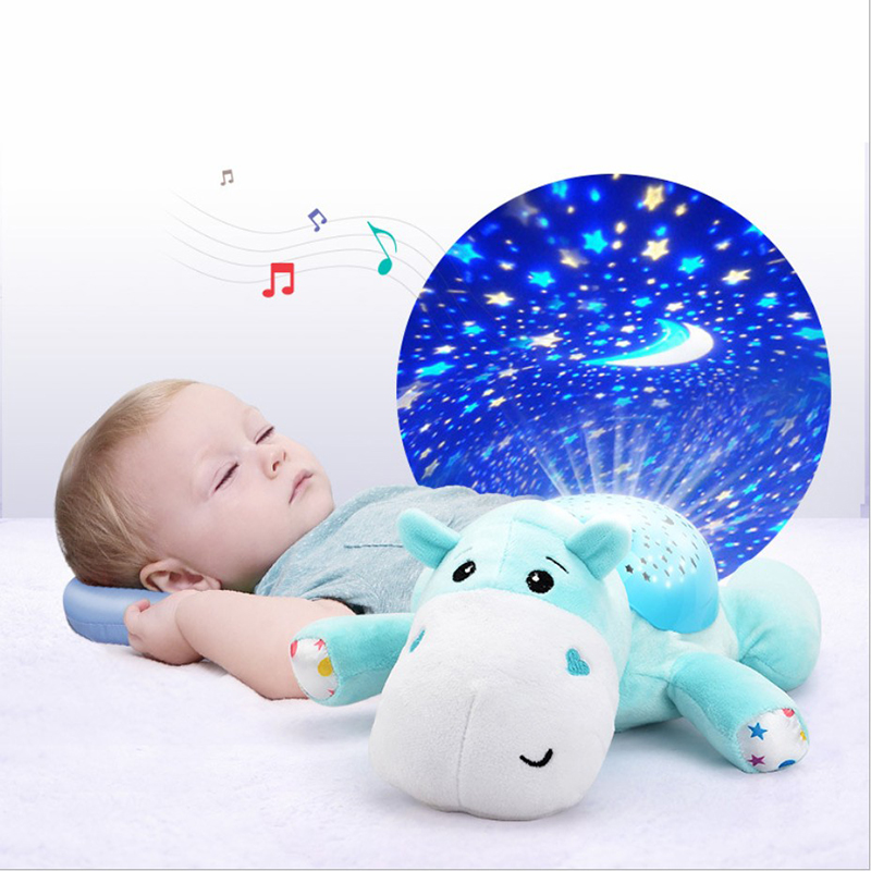 Cute Design Led Night Light Stars Projector Baby Toys For Children With Colorful Light Luminous Music Animals Lamp Novelty Sky