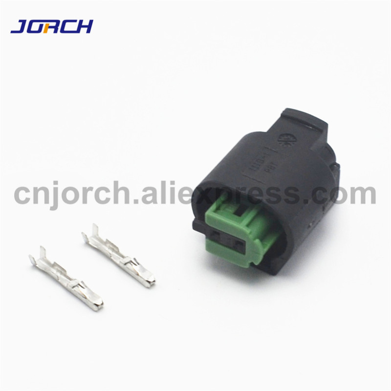 10 Sets 2 Pin Waterproof BMW Outdoor Temperature Sensor Plug Auto Oxygen Sensor Plug Connector 1-967644-1 968405-1