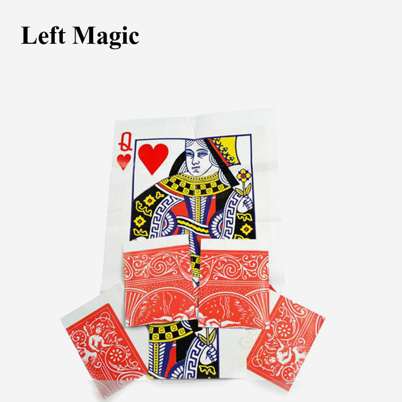 1pcs Queen Restored Close Up Card Magie Trick Props Magia Stage Street Magic Props Card  E3067