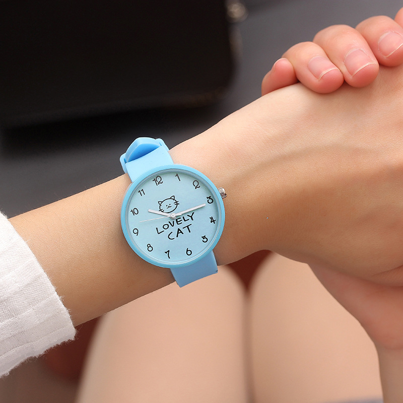 2018 Hot Sale Fashion Cartoon Cute Color Quartz Watches Boys Girl Kids Child Wrist Watch Child Clock Children Gifts Lovely Cat
