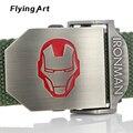 Iron man Moda hombres cinturón de Lona Militar táctico de Cuerpo Ancho 3.8 CM 4 MM Longitud 110-140-160CM Para las mujeres de Alta Calidad Boutique