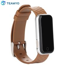 Teamyo QS50 Bluetooth 4.0 Smart пульсометр SmartBand SMS/вызова напомнить спортивная браслет часы браслет для IOS Android