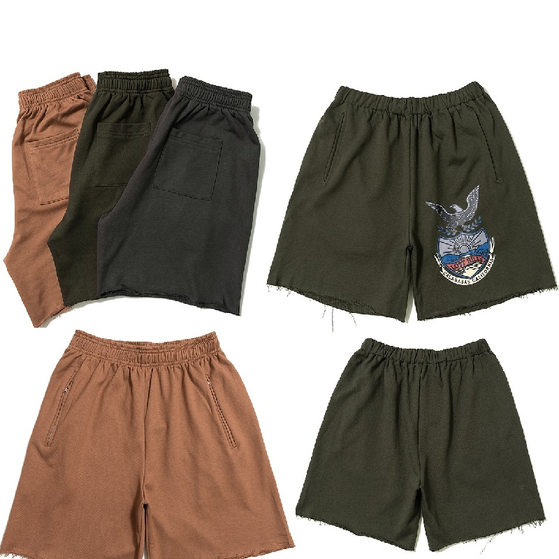 New Season 6 Shorts Men Sweatpants Kanye West Calabasas Eagle Summer Men Shorts Casual Cotton Streetwear Season 6 Beach Shorts