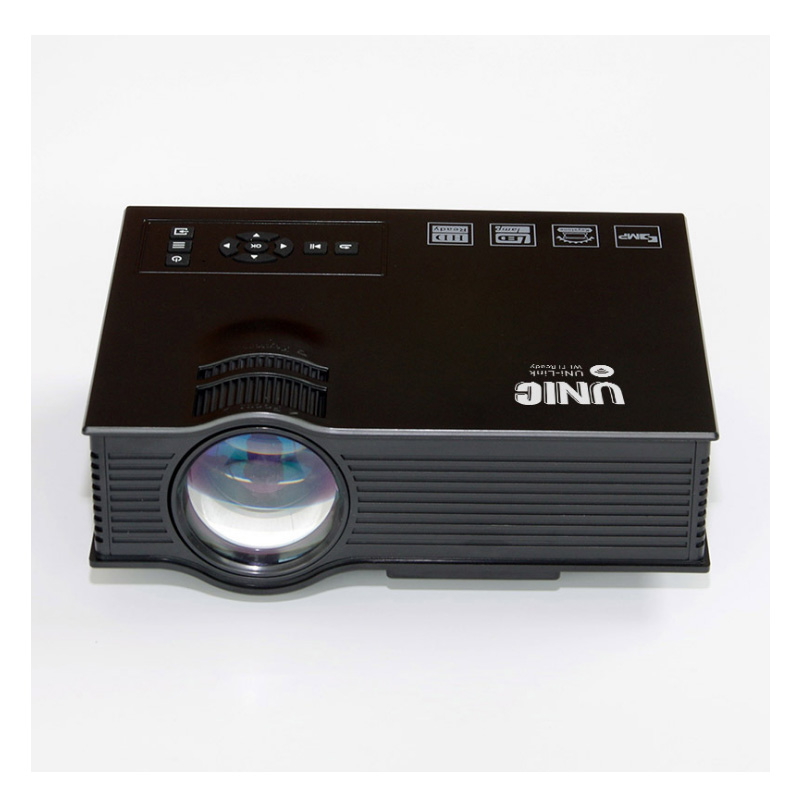 Upgrade <font><b>UNIC</b></font> UC68 multimedia Home Theatre 1800 lumens led projector with HD 1080p Better than <font><b>UC46</b></font> Support Miracast Air play image