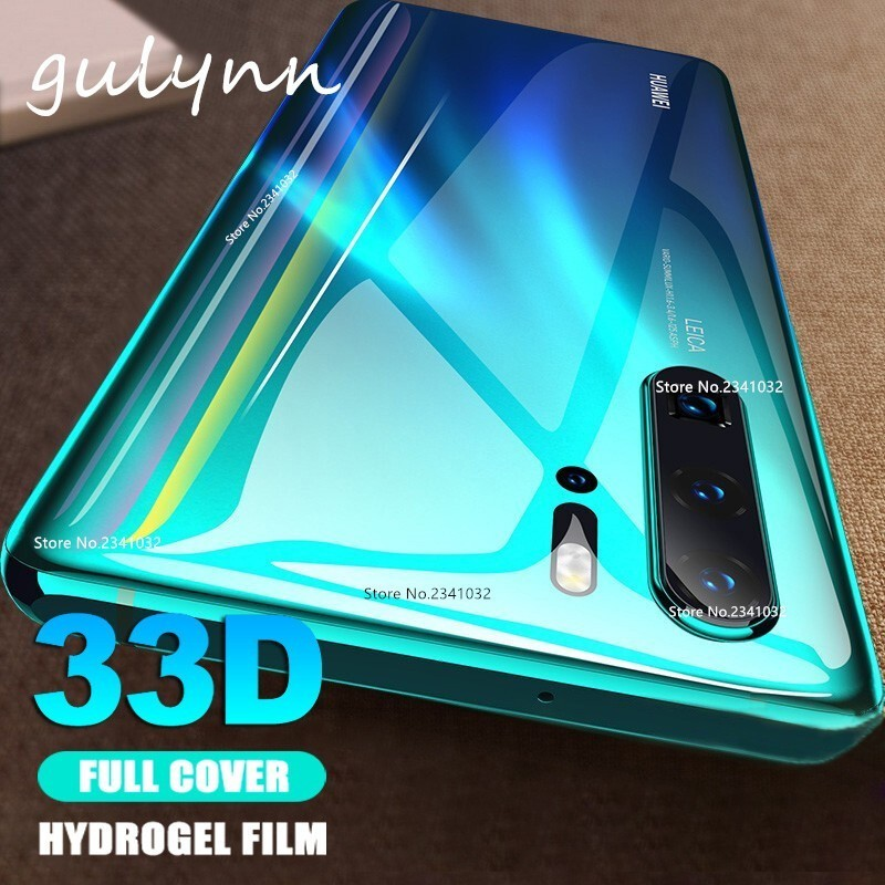Ultra-thin Front Back Full Cover Soft Hydrogel Film For Huawei P 20 30 Honor 20 10 i 8X 9 9i Lite Pro 33D Screen Protector Film image