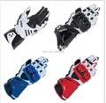 7 cores novo gp pro luvas da motocicleta moto guantes estrada racing luva de couro real preto branco vermelho