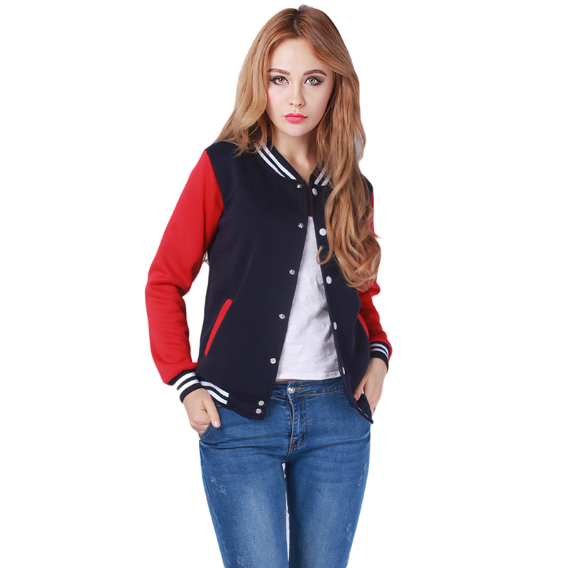 Casual Hoodies Spring Autumn Thin Fleece hoodies Sweatshirt Women Zip-up Patchwork jackets Coat fashion M,L,XL,XXL