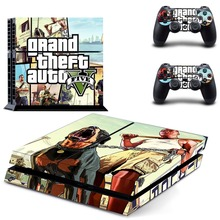 PS4 Vinyl Skin GTA 5 Decals PS4 Console Skin and Two Controller Sticker for Sony Playstation 4 Stickers