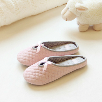 Womens Lovely Bowtie Slippers