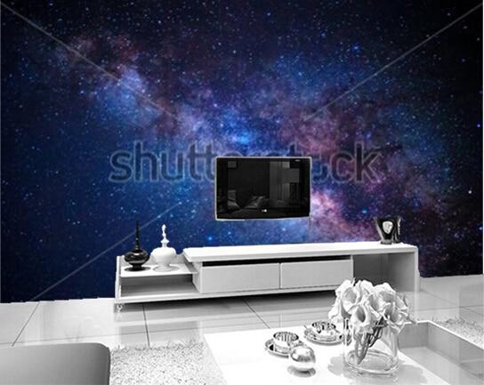 Woonkamer En Slaapkamer : Aangepaste foto behang uit de melkweg detail voor de woonkamer