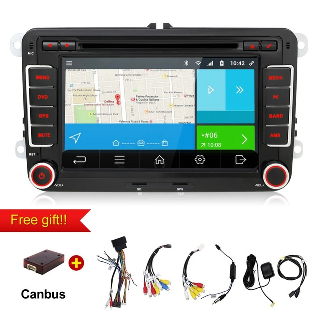 2 din android 7.1 car radio dvd gps navigation for volkswagen vw