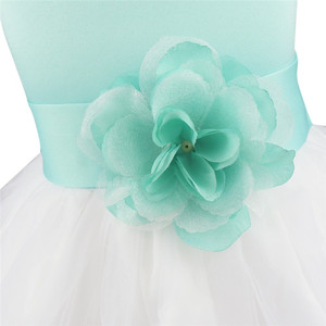 Image 3 - Flower Girls Dress Flower Petals Tulle Bow Sleeveless Formal Dresses for Wedding Pageant Birthday Party Formal Special Occasions