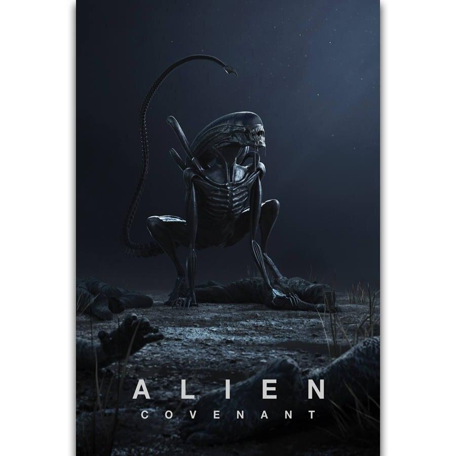 S1303 Alien covenent горячий ужас фильм Монстр космическая настенная живопись Печать На шелковом холсте плакат украшение дома|Рисование и каллиграфия|   | АлиЭкспресс