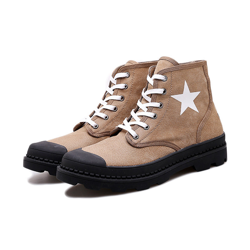 Spring autumn ankle men shoes genuine leather boots men adult military boots in Motorcycle boots from Shoes