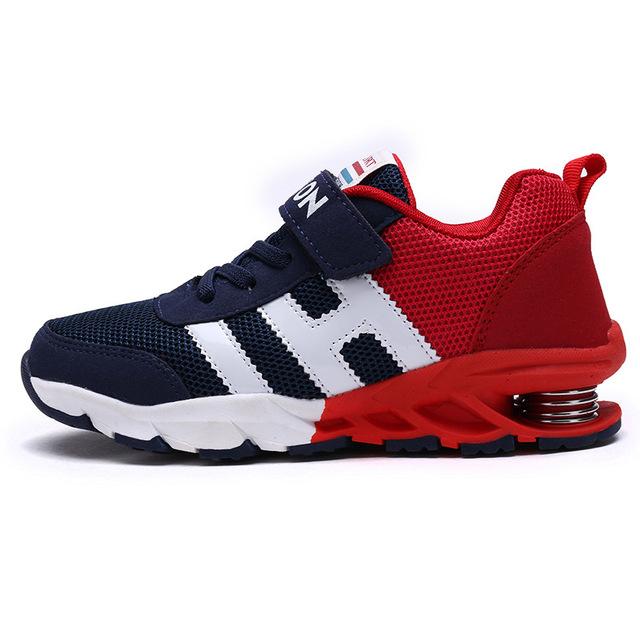 2016 Novas Crianças Sapatos Meninos Meninas Sapatilha Sapatos de Desporto esporte Elástico Respirável Sapatas Dos Miúdos Das Sapatilhas Meninos plus size 31-39