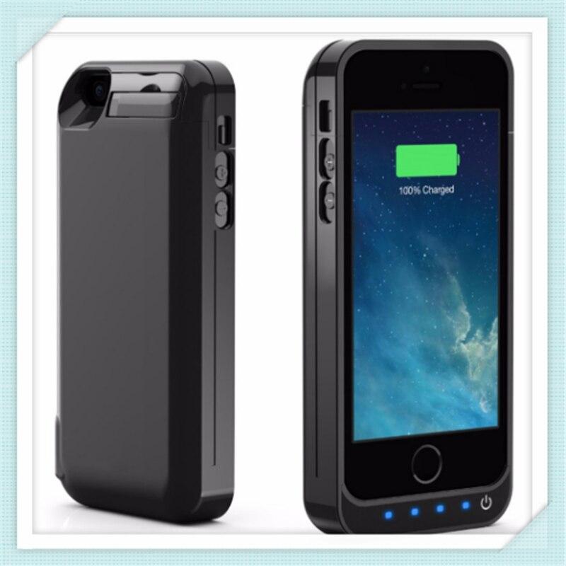 imágenes para Nueva 4200 mAh Caja de Batería Recargable Extendido Construido en USB Potencia la Capacidad del banco Para iPhone 5 5C 5 SE 5S batería caso