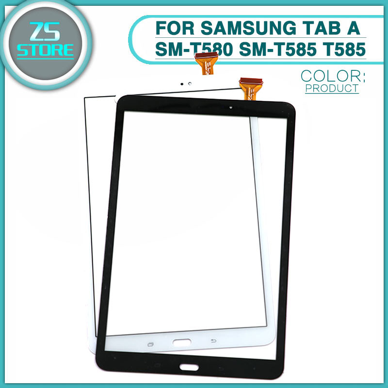 10pcs new T580 Touchscreen For Samsung Tab A SM T580 SM T585 T585 Touch Screen Glass