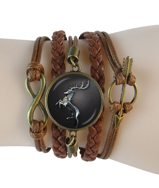 Leather Game Of Thrones Infinty Bracelet