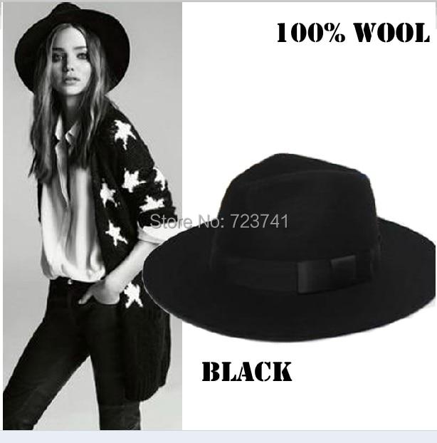 d4de4e2729b 2014 Fashion Autumn Winter 100% Wool Women s Fedora hats Trilby JONES-Original  felt panama Cap Size 56-58CM adjusted IN Stock