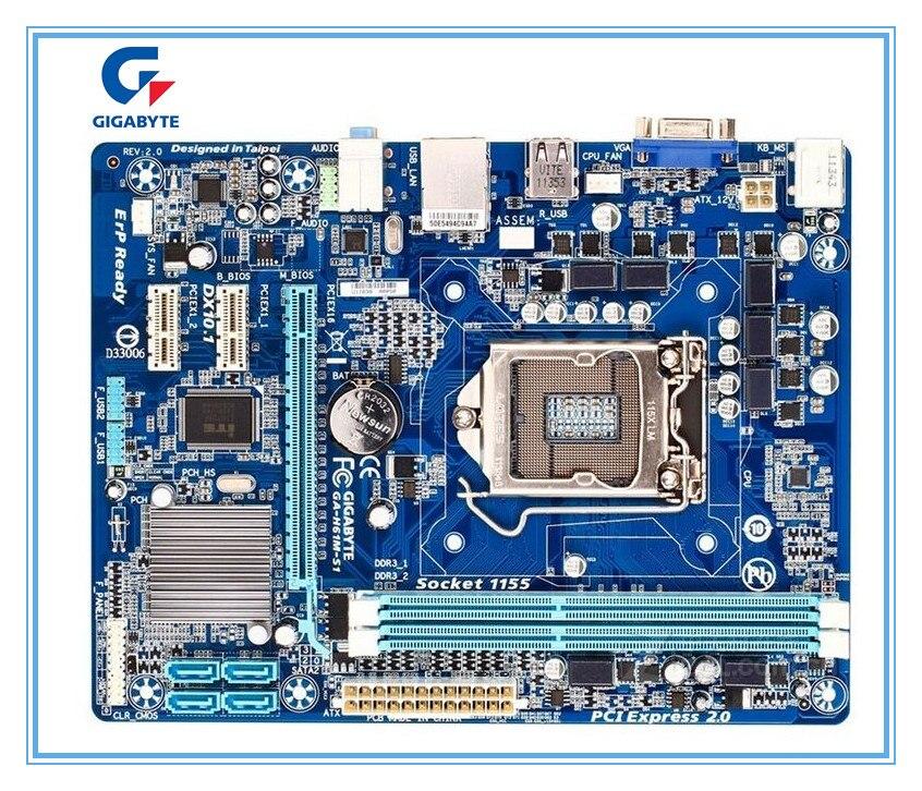 Gigabyte d'origine Livraison gratuite carte mère GA-H61M-S1 H61M-S1 DDR3 LGA1155 Solide-état intégré livraison gratuite