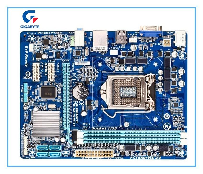Gigabyte original envío gratuito placa base GA-H61M-S1 H61M-S1 DDR3 LGA1155 de estado sólido integrado envío gratuito