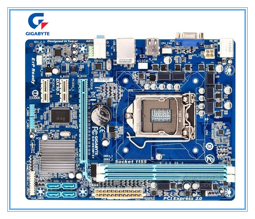Gigabyte GA-H61M-S1 placa-mãe de mesa para intel h61 soquete lga 1155 i3 i5 i7 ddr3 16g uatx original H61M-S1 pc