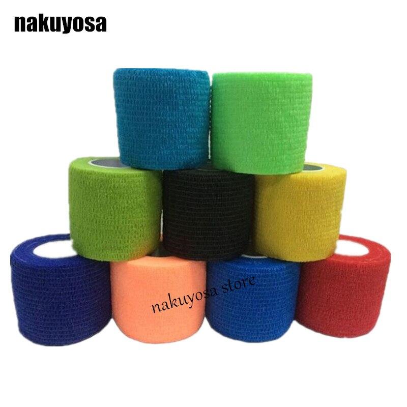 Prix pour 10 pcs/lot Auto-Adhésif Élastique 5 cm Large 4.5 m Longueur Nail Bandes Accessoire Doigt Protection Wrap Kit Sport Doigt Bandage